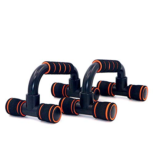 DUT Push up Bars - Pushup Handle, Workout Exercise with Non-Slip Sturdy Structure, Pushup Stands are Great for Home Fitness Training, Strength Workouts, Muscle Ups 2 Pack (Orange)