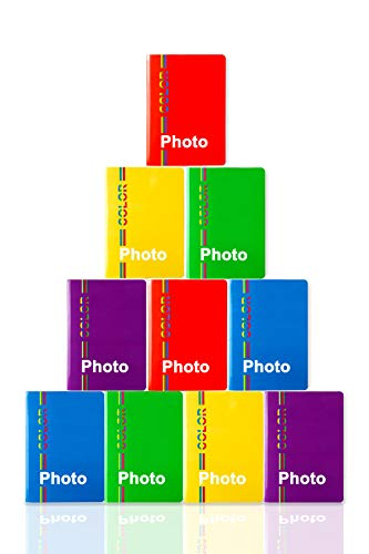 5 miniAlbum Portafoto 10x15 per ospitare 200 Foto 10x15. Colori Assortiti. New Edition. Made in Italy (10x15, 5)