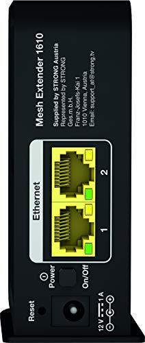 STRONG WiFi Mesh Home Kit 1610 Add-On【WLAN Verstärker bis 1600 Mbit/s, 100 m², Dual Band, 2x Gigabit LAN, USB 3.0】schwarz