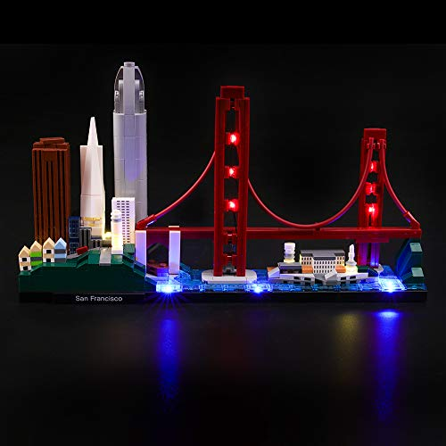 LIGHTAILING Light Set for (Architecture San Francisco) Building Blocks Model - Led Light kit Compatible with Lego 21043(NOT Included The Model)