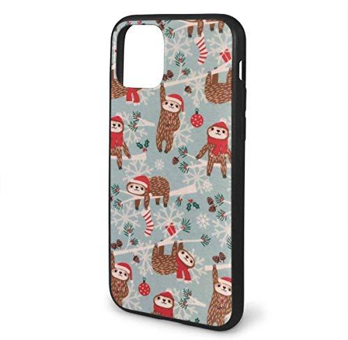 N/A iPhone 11 hoesje luiaard bruin behang siliconen gel rubberen beschermhoes voor iPhone 11