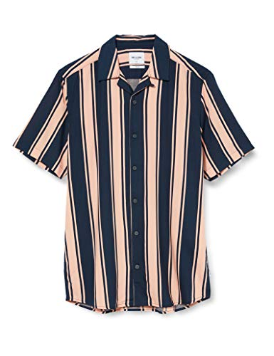 ONLY & SONS Herren ONSWAYNI SS Striped Viscose Shirt NOOS Hemd, Misty Rose, M