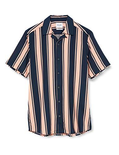 ONLY & SONS Herren ONSWAYNI SS Striped Viscose Shirt NOOS Hemd, Misty Rose, L