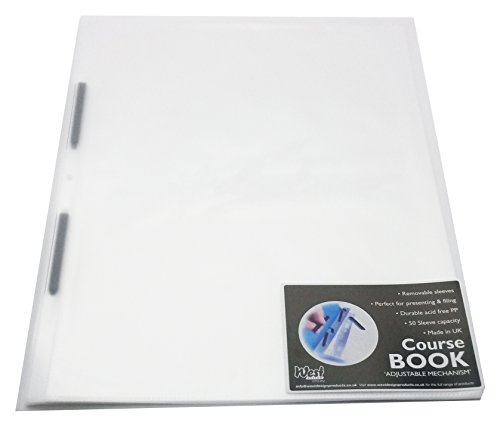 West A2 Adjustable Capacity Course Book Clear Opaline