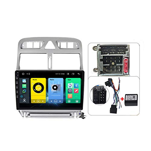 Android 10 GPS Navegador Coche para Peugeot 307 2002-2013 - FM RDS AM Radio del Coche, Conexión a Internet WiFi/5G, Soporte DSP Carplay Android Auto/BT Llamadas Manos Libres,Plug c,7862: 6+128