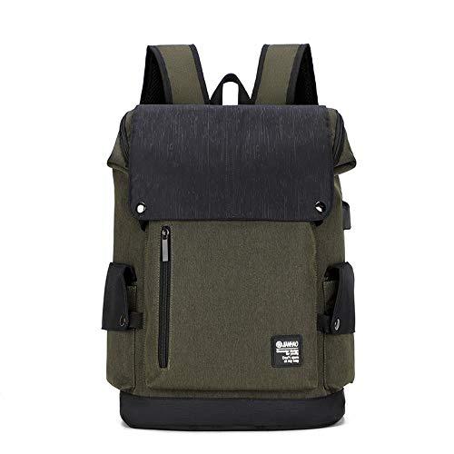 Backpack Bag Fashion Usb Laptop Backpacks Large Business Backpack Menschool Bags Male School Bag Student Schoolbag Black Green