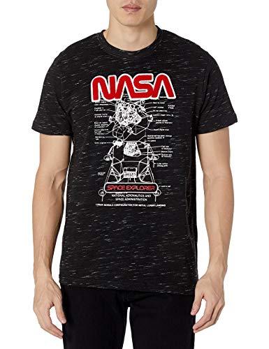 WT02 Camiseta de Manga Corta para Hombre, Logo Negro 5, Large