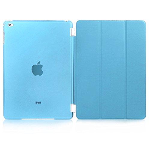 Alienwork Custodia per iPad Air 2 Supporto Cover Case modalità Sleep Ecopelle turchese AD5202-02