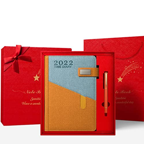 2022 Planner- Weekly Monthly Planner,8.7″ x 5.9″,Jan. 2022-Dec. 2022, Hardcover with Contacts+Calendar+Holidays+ Thick Paper+Twin- Wire Binding (Color : Orange red)