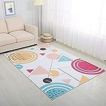 Modern Colorful Area Rugs Simple Geometric Mats Anti-Skid Rugs for Living Room/Bedroom/Yoga Play Tea Table Mats Home Rug B...