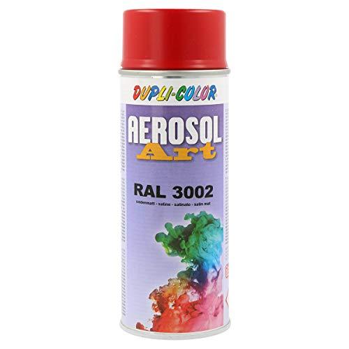 DUPLI-COLOR 666469 Aerosol Art Sprühdosen 400 ml, RAL 3002 Seidenmatt