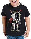 style3 Gametron T-Shirt für Kinder NES SNES n64 Sheldon Big bang Videospiel, Farbe:Schwarz, Größe:164
