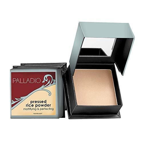 Palladio, Pressed Rice Powder with Mirror Mattifying Makeup Setting...