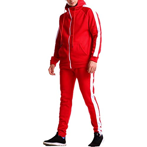 [ピュ フェリーチェ] スウェット 上下 メンズ 大きいサイズ ランニングウェア トレーニング スポーツ ウェア ジャージ セットアップ 運動 赤 服 セット 長袖 トップス ボトムス ずぼん ロンt tシャツ パーカー ジョガーパンツ ダウン ジャケット