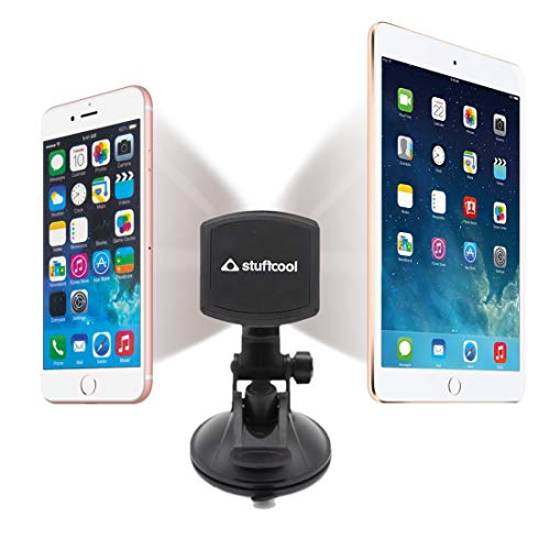 Stuffcool Magnetic Phone Car Mount, 360° Rotation Universal Phone Holder for Car Dashboard, Windshield and Desktop Compatible with Smartphones/Tablet/iPad Upto 9.7""