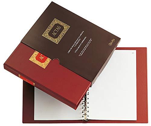 Miquelrius - Libro de Contabilidad, A4, 15 Anillas, Actas Móviles, 100 Hojas Lisas (Foliadas)