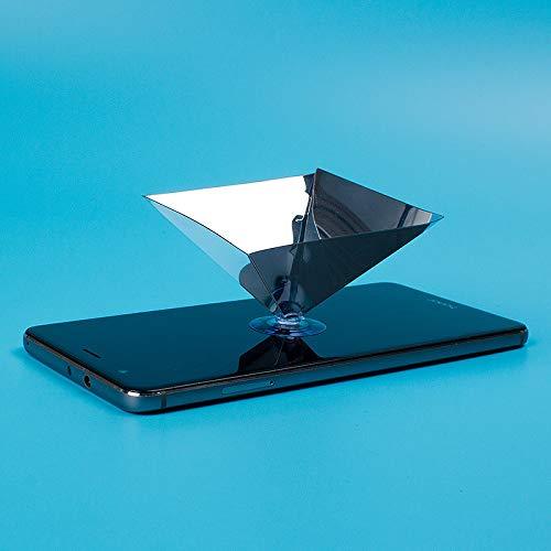 ALEMINN Visualizador proyector teléfono holográfico 3D,proyector ...