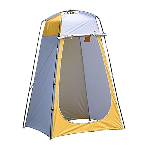 SJB Pop Up Tent Beach Camping Tent Outdoor bathing and changing tent, mobile toilet, foldable single changing room Foldable Outdoor UV Lightweight Waterproof tent (Color : Yellow)