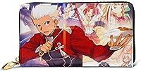Fate-grand Order 長財布 メンズ レディース カードケース 小銭入れ 大容量 本革 財布 Leather Wallet