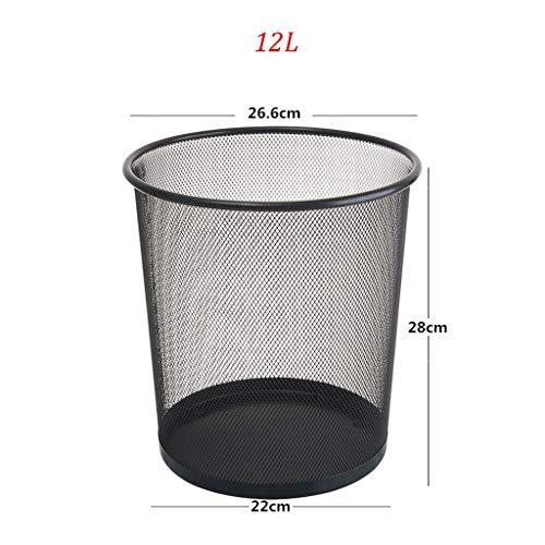 Jiji prullenbak ijzeren vuilnisemmer prullenbak prullenbak papier manden niet afdekken badkamer groot zwart keuken