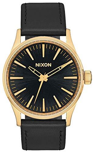 Nixon Herren Analog Quarz Uhr mit Leder Armband A377-1604-00