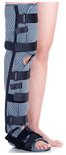 Ortesis de Rodilla Estabilizador de piernas Completas, Soporte para la Rodilla cómoda Inmovilizador Abrazadera Transpirable para la inmovilización postoperatoria. (Size : Small)