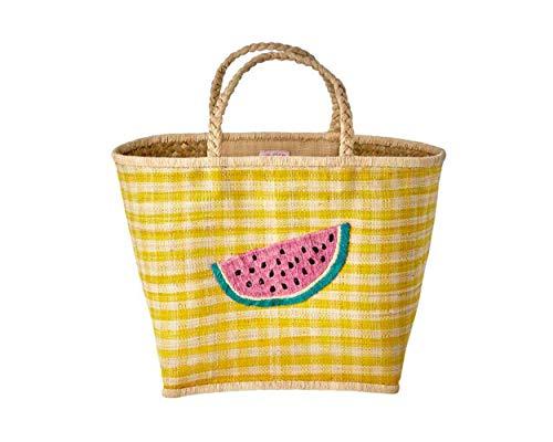 Rice Einkaufstasche aus RAFFIABAST Wassermelone