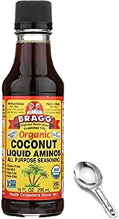 Bragg Coconut Aminos, All Purpose Seasoning, 10 Oz w/ Measuring Spoon