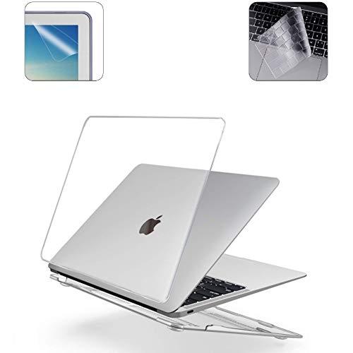 i-Buy Harte Schutzhülle Hülle Kompatibel für Macbook 12 inch with Retina Display (Model A1534) + Tastaturschutz  + Schutzfolie - Kristall Klar