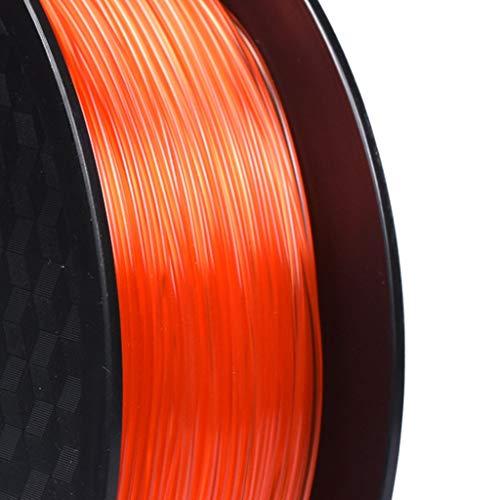 DZWLYX Stampante 3D filamento PLA 1,75 Millimetri 1KG plastica filamento Materiale RepRap Createbot/MakerBot for Parti della Stampante 3D / Penna 3D (Color : Transparent Red)