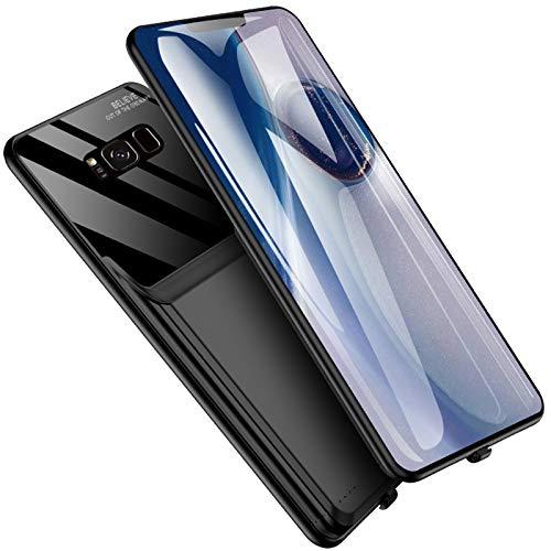 HiKiNS Funda Batería para Samsung Galaxy S8 Plus 6000mAh Externa Ultra Batería Recargable Power Bank Case Funda Cargador Portatil Batería para Galaxy S8+