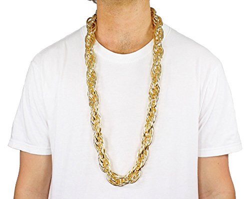 Largemouth 40' Heavy Rope Gold Pimp Chain Old School Rapper Costume Bling!! (Gold)
