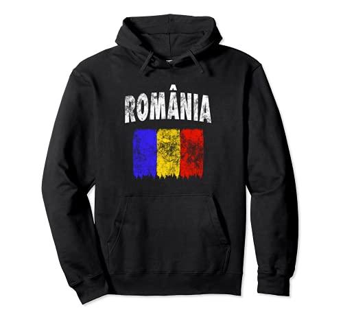 Rumänische Flagge (Vintage) – Rumänien Pullover Hoodie