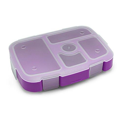 "Bentgo儿童托盘(紫色),带有透明封面,午餐,午餐准备等等""data-large_image_width="