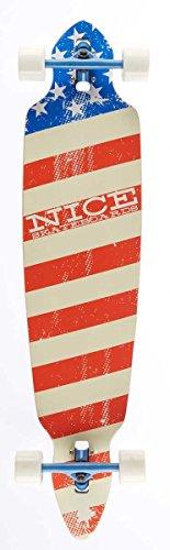 Nice Americanos Longboard Mixte Adulte, Multicolore, 9\