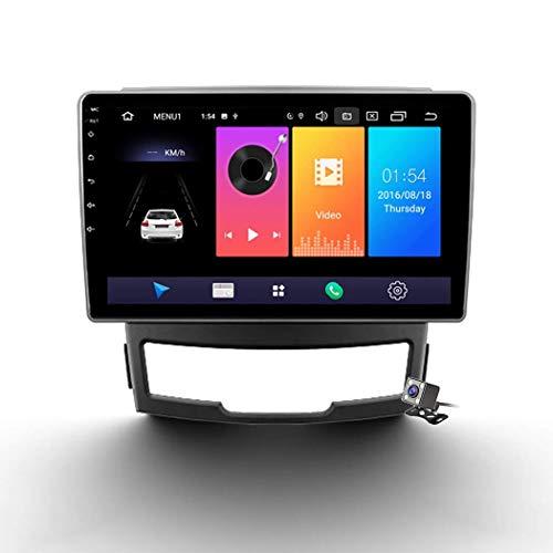 Android 9.0 Radio estéreo para automóvil compatible con SsangYong Korando 3 2010-2013 Navegación GPS Unidad principal de pantalla táctil de 9 pulgadas Reproductor multimedia MP5 Video con 4G WiFi DSP