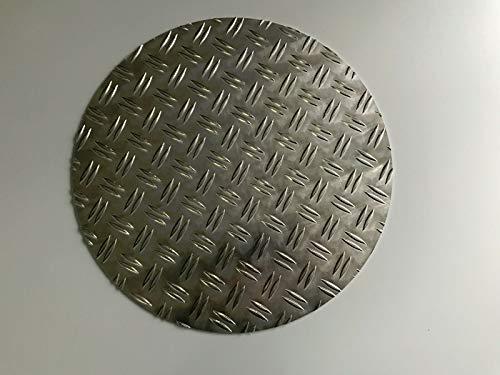 Schachtabdeckung rund Aluminium Duett Riffelblech (5/6,5mm Ø800mm)