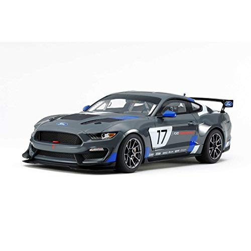 TAMIYA 24354 1:24 Ford Mustang GT4, originalgetreue Nachbildung, Modellbau, Plastik Bausatz, Basteln, Hobby, Kleben, Modellbausatz, Zusammenbauen, unlackiert