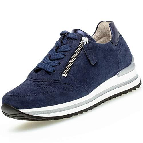 Gabor Zapatillas deportivas para mujer, plantilla suelta, cómodas y de ancho alto, color Azul, talla 38.5 EU