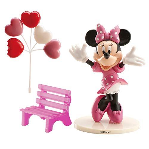 AEC Minnie 302012, Kit per la Decorazione di Torte, modellini in plastica, Rosa, 3x 5x 9cm