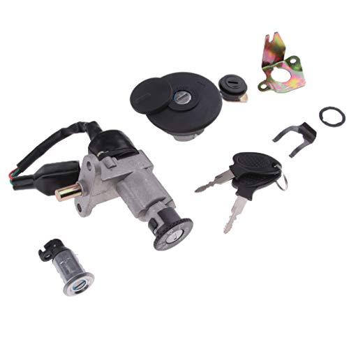 perfk Universal Zündschloss Roller ATV Elektrische Fahrrad Zündschalter Schloss mit Schlüssel für Roller B08 B09