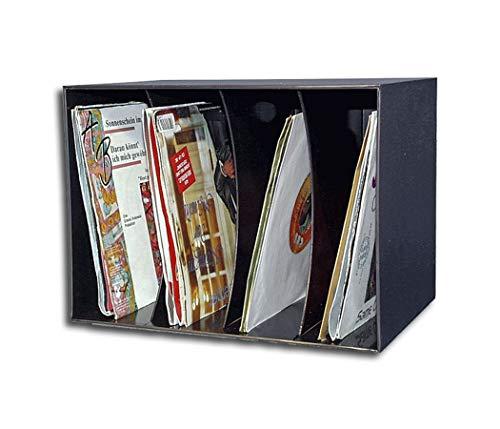 Kunststoff-Box für bis zu 80 Single Schallplatten schwarz Protected