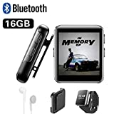Best Running Mp3 Players - 16GB Clip MP3 Player with Bluetooth, Sports Watch Review