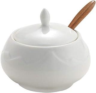 Pots à épices,Ensemble de Pot d'assaisonnement, boîte à épices de Cuisine boîte d'assaisonnement de Cuisine Bocal en céram...