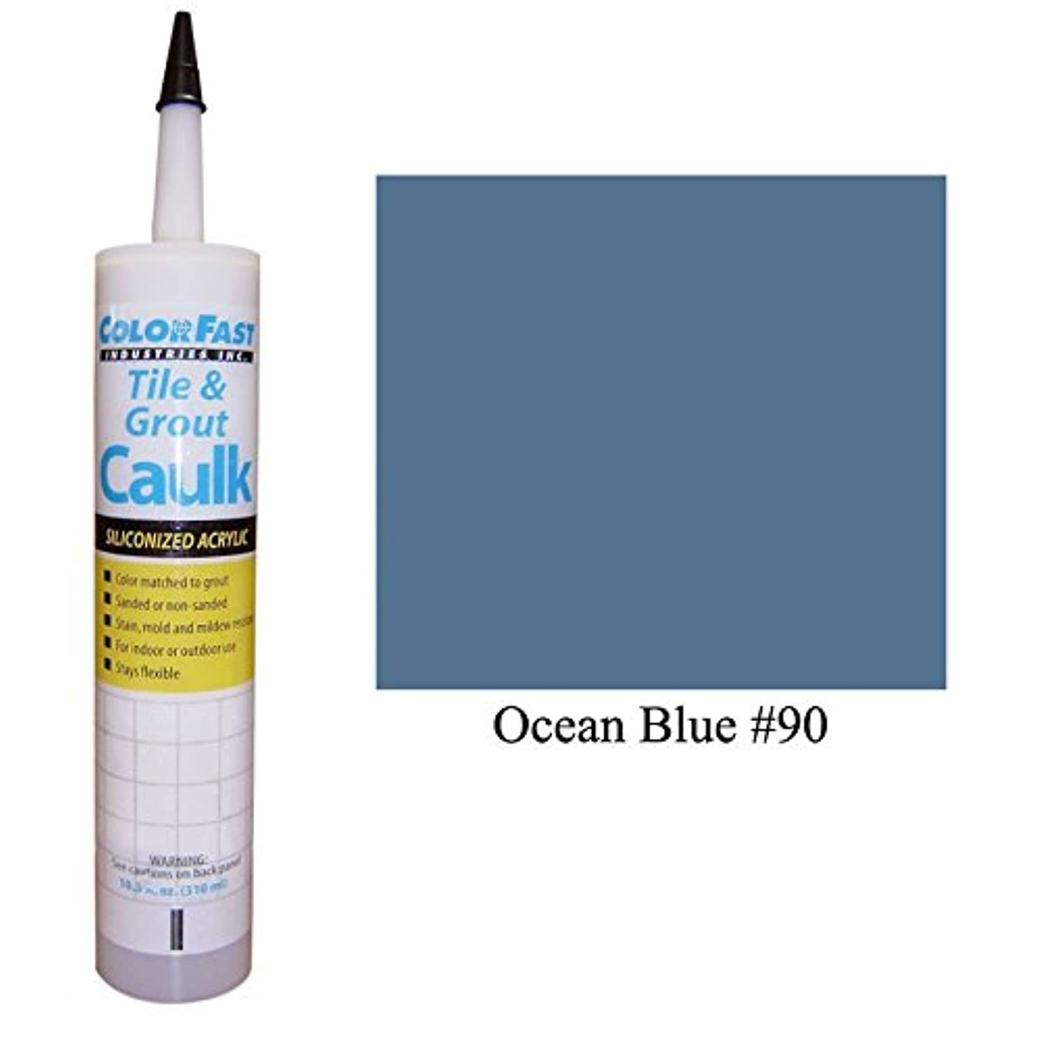 Color Fast Caulk Matched to Custom Building Products (Ocean Blue Unsanded)