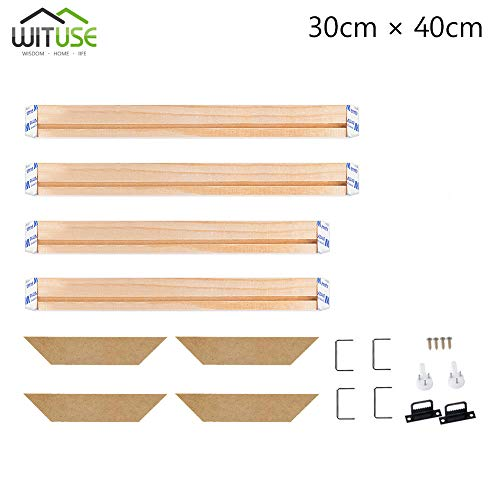 WITUSE Wood Stretcher Bars Painting Canvas Wooden Frame for Gallery Wrap Oil Painting,Needlepoint Stretcher Bars DIY,Canvas Mounting Frames-12