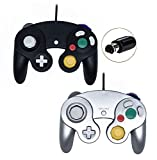Poulep Wired Controller for Gamecube Game Cube, Classic Ngc Gamepad Joystick for Wii Nintendo Console (Black...