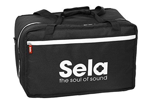 Sela SE 005 Cajon Tasche Black, Hochwertige Nylontasche für Cajons mit Rucksackfunktion und Seitenfach