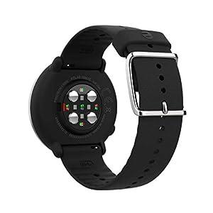 Polar Ignite – Reloj de fitness con GPS integrado, pulsómetro de muñeca, guías de entrenamiento - hombre/mujer - negro/plata S/M