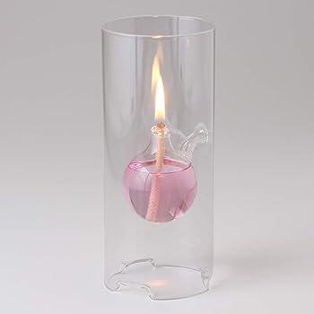 【ガラス替芯つき】UIL026ガラスキャンドル オイルランプ クールフローティングボトル【M】OLC-02 TYPE BURNERWORK